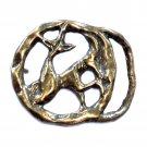 Capricorn Zodiac Sign Vintage Brass Belt Buckle