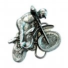 Dirt Biker 3D Bergamot USA Pewter American belt buckle