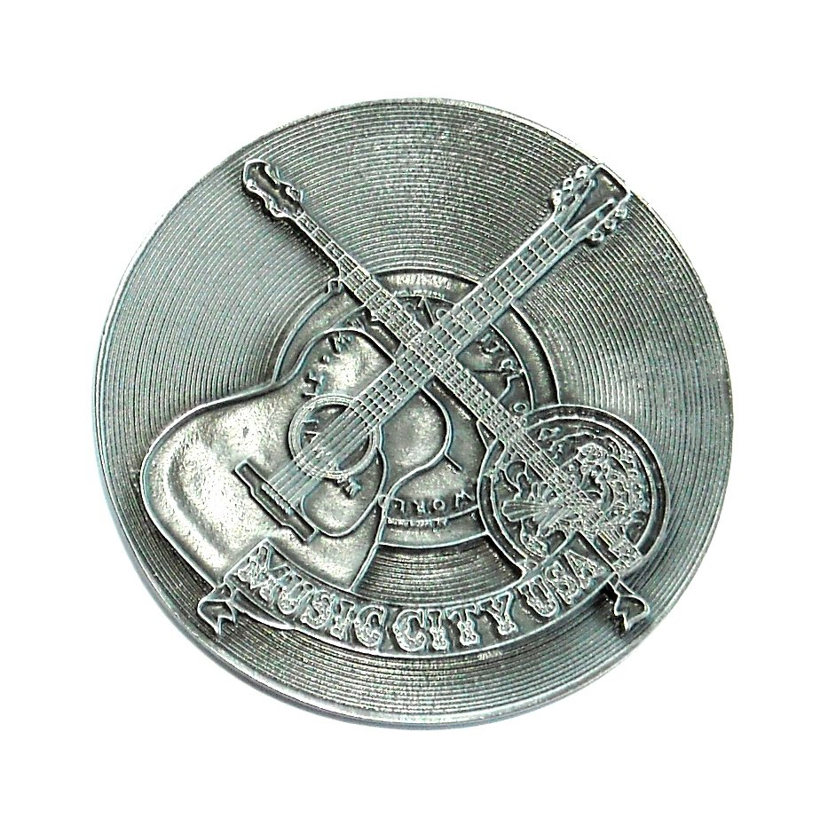 Country Western Music City USA Bergamot Pewter American Belt Buckle
