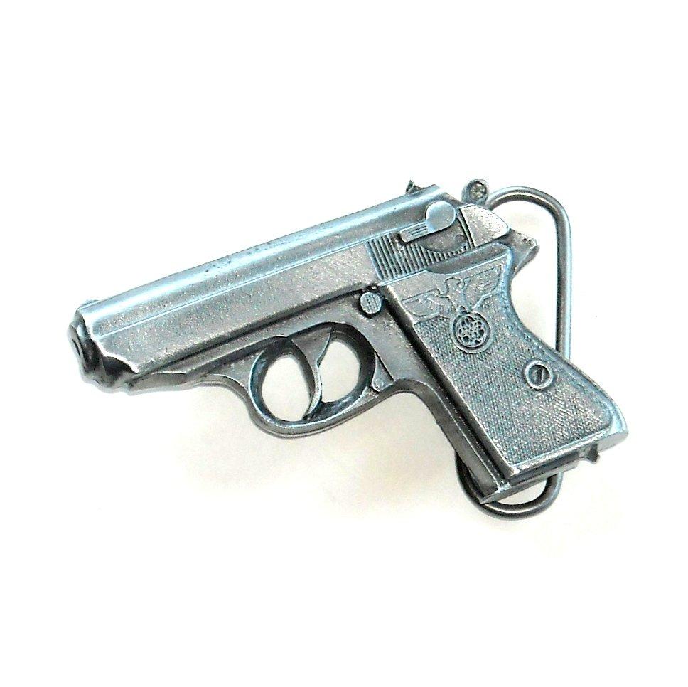 Walther German Pistol Vintage Bergamot 3D Belt Buckle