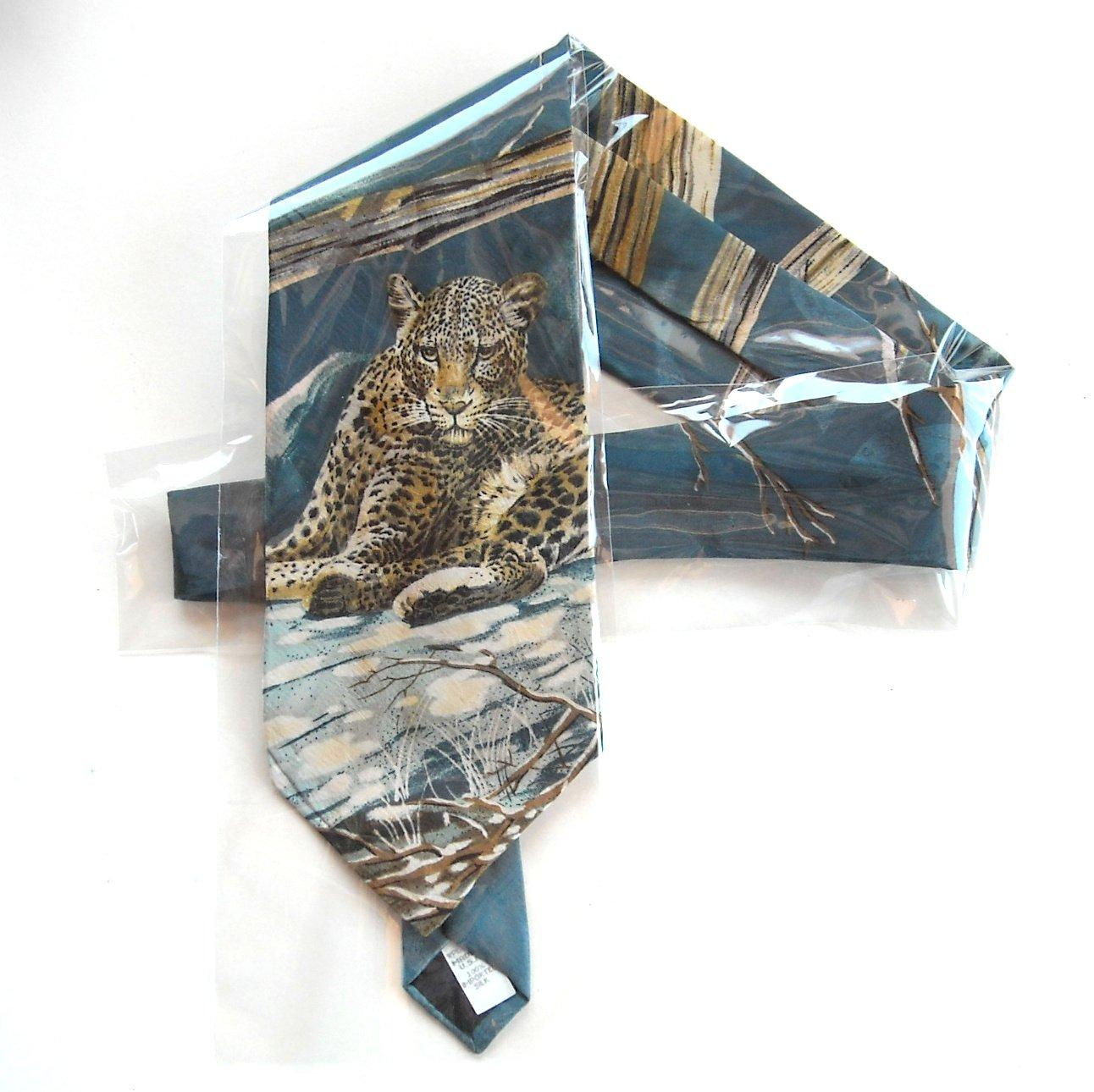 Endangered Species Vintage Leopard Pattern Necktie Tie