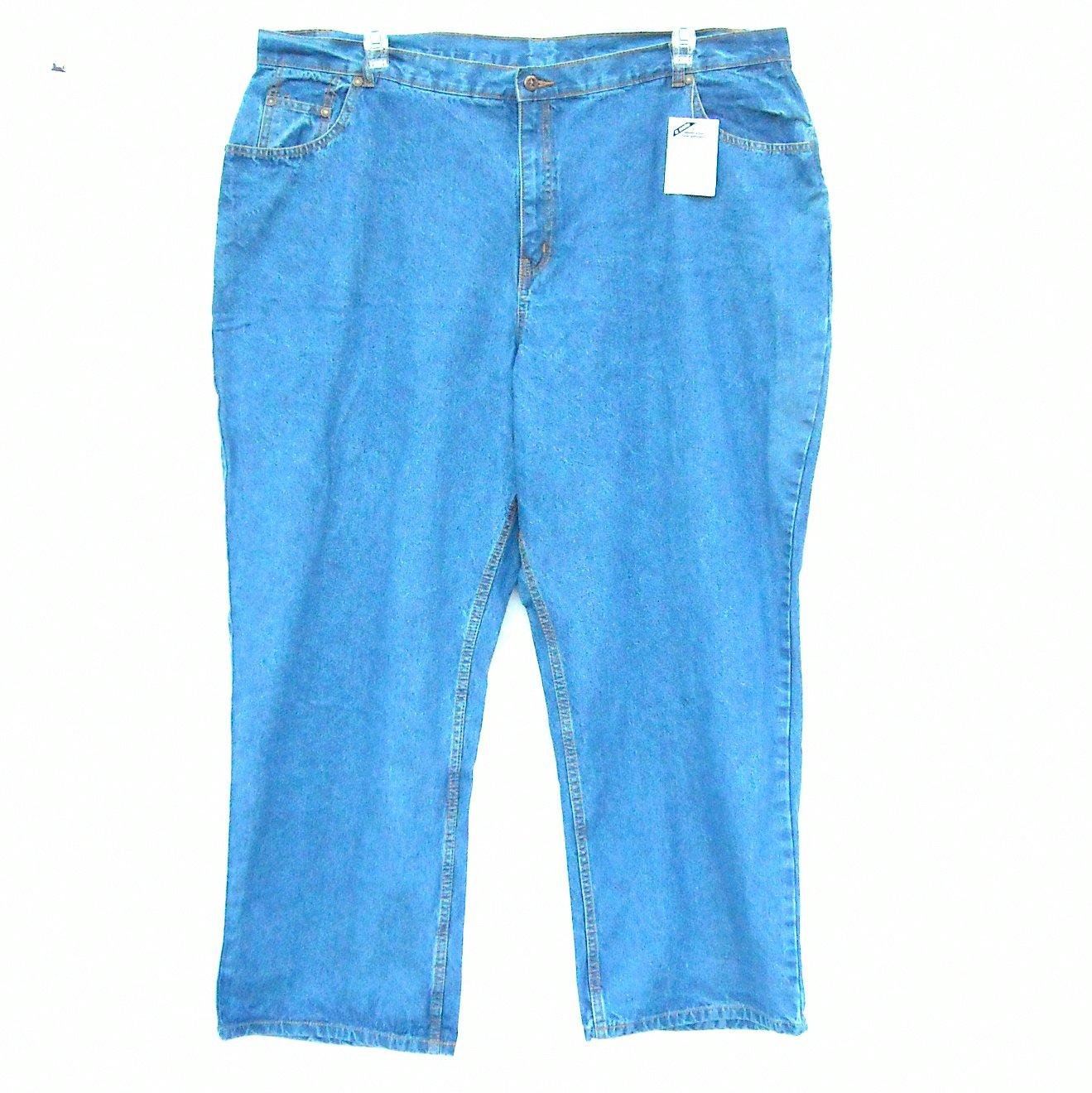Mainstreet Blues Women's Plus Size Blue Jeans 4X NWT