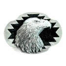 Eagle Head 3D Siskiyou Pewter Belt Buckle