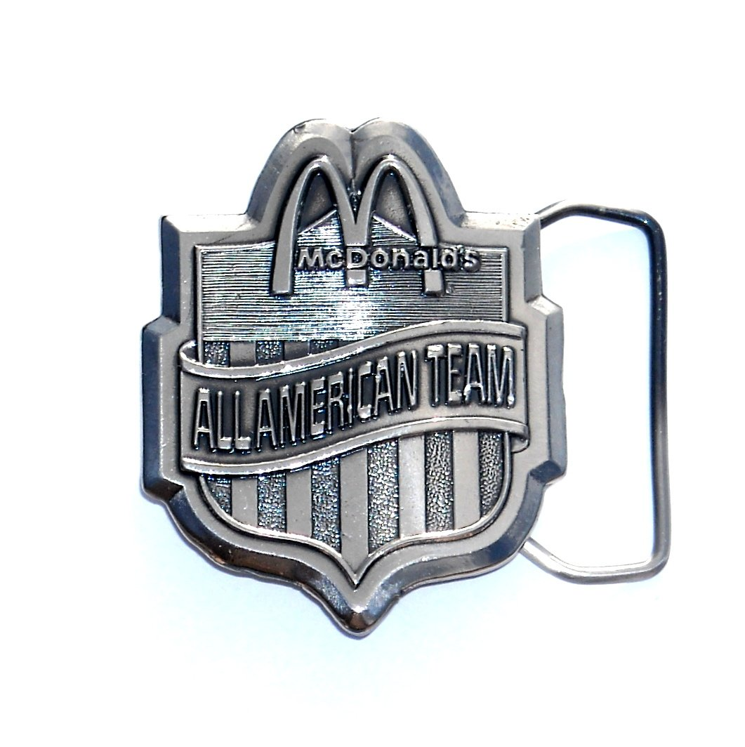 All American Team McDonalds Vintage Pewter Belt Buckle