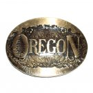 Oregon State ADM First Edition Solid Brass Belt Buckle