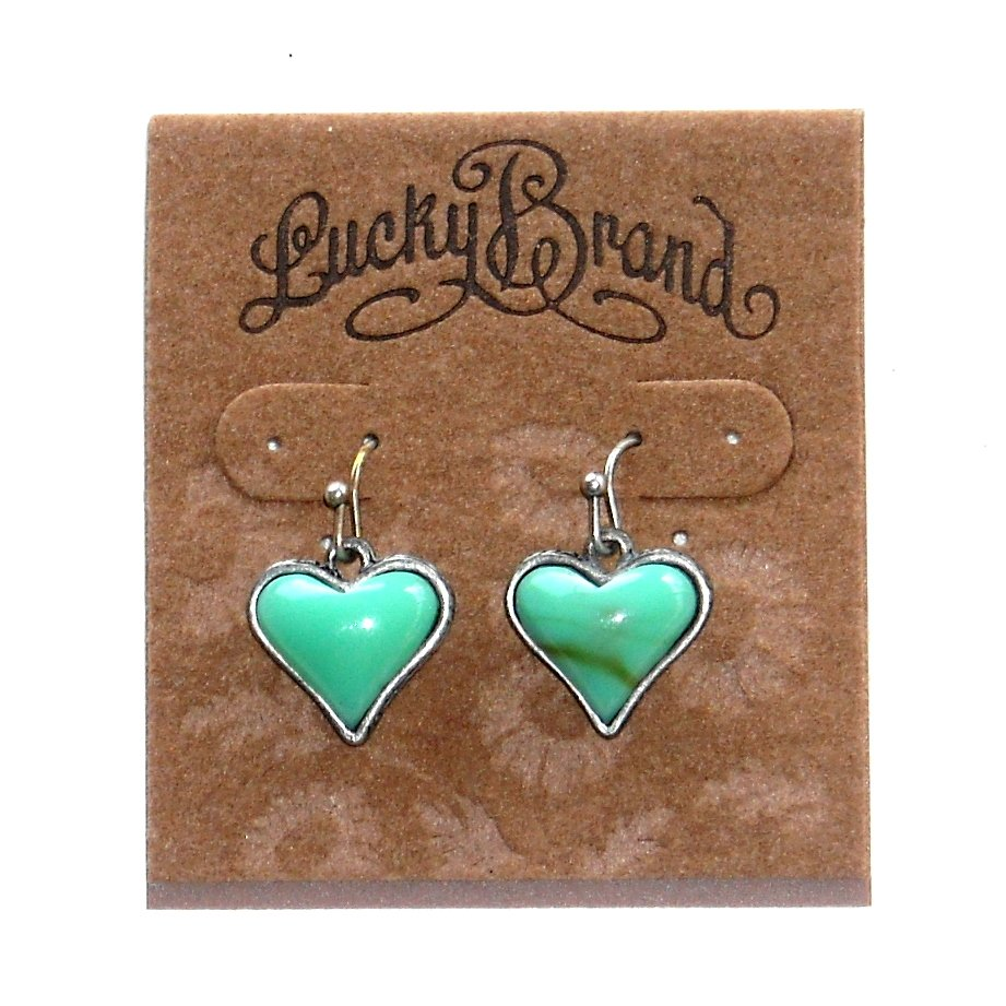 Hearts Turquoise Colored Lucky Brand Earrings