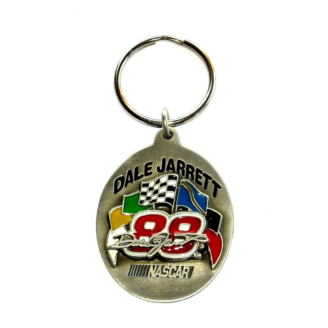 Nascar 88 Dale Jarrett Solid Pewter Fob Key Ring Keychain