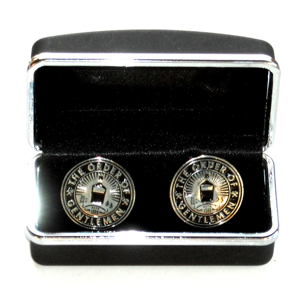 Jack Daniels Order Of Gentlemen Club Boxed Silver Color Cufflinks