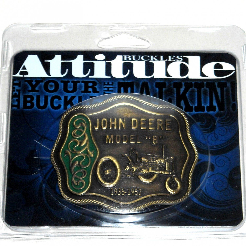 John Deere Model B Western Attitude Belt Buckle