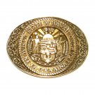 Hawaii State Seal Vintage ADM Solid Brass Belt Buckle
