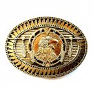 Tribal Native American Art Eagle Vintage Award Design Solid Brass Belt Buckle
