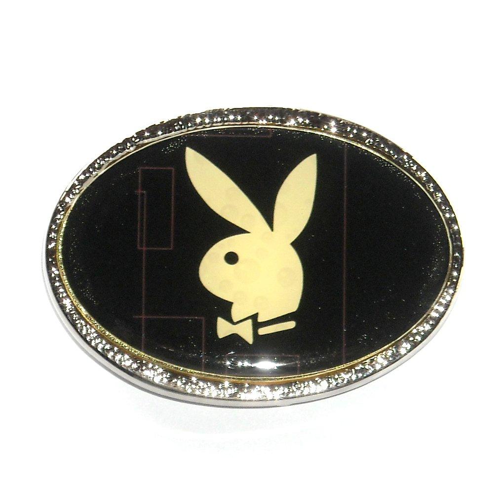 Playboy Bunny White Standard Belt Buckle