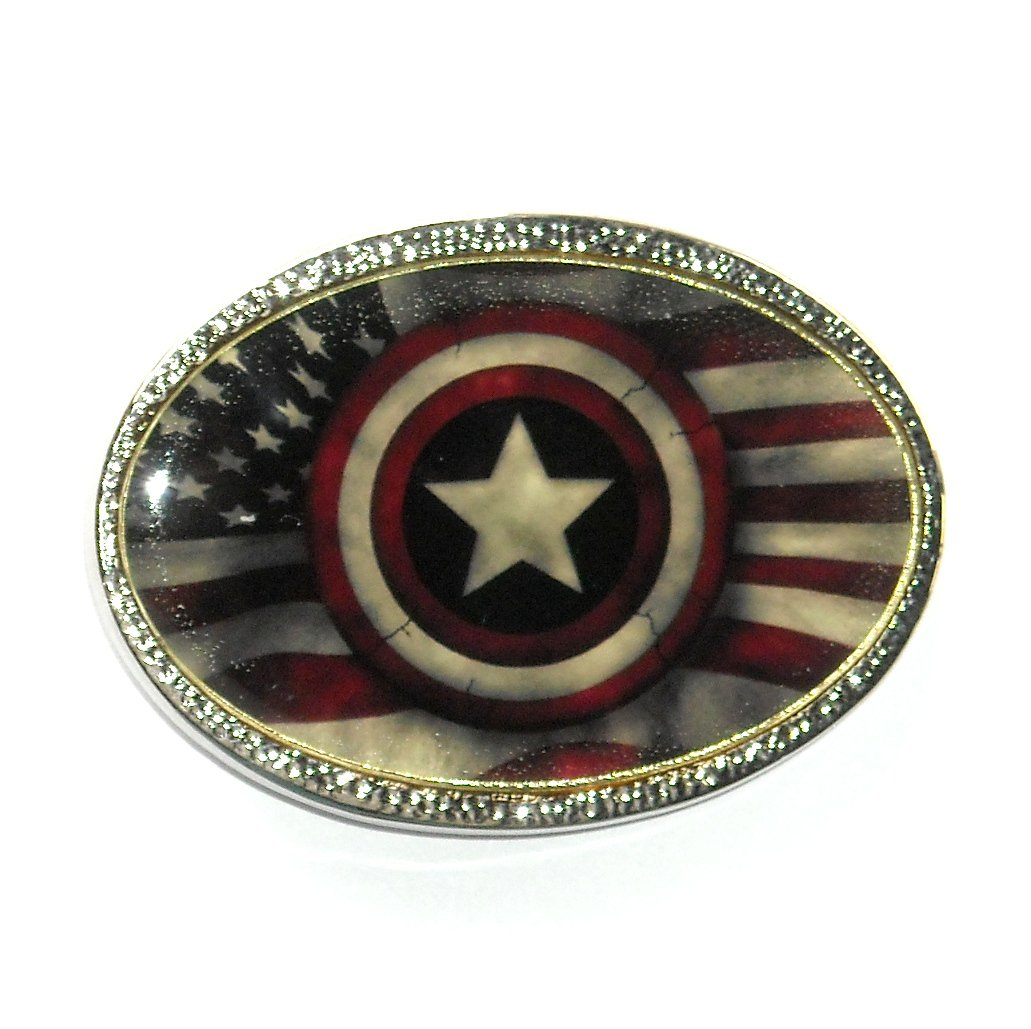 Captain America Shield Standard Belt Buckle