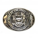 Tony Lama Great Seal State Of Delaware Solid Brass Belt Buckle