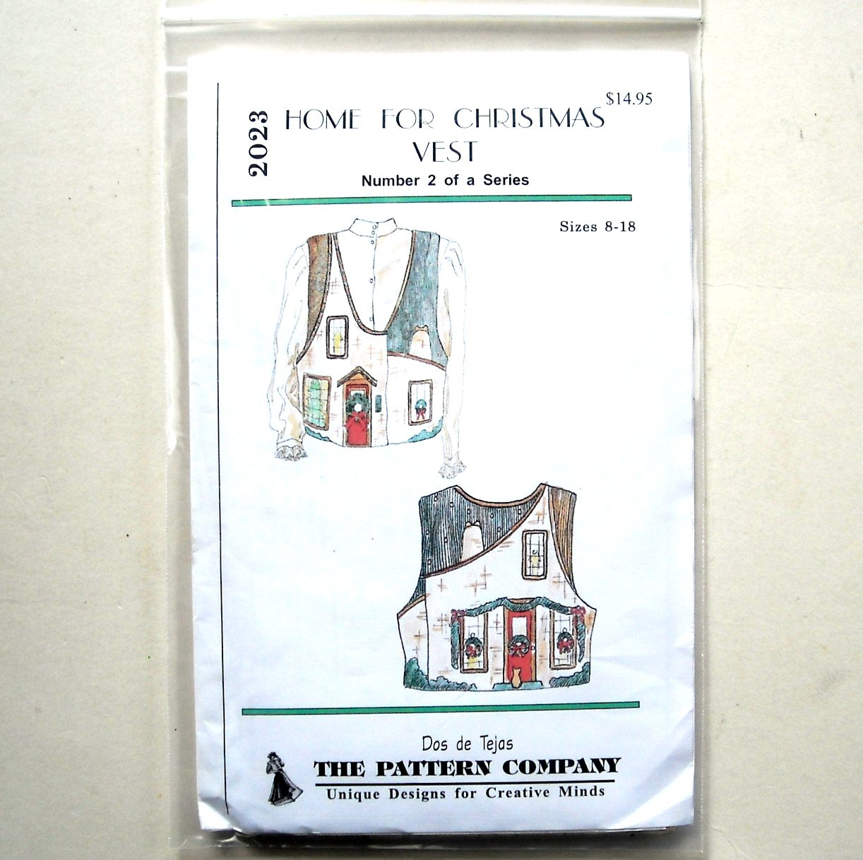 Home For Christmas Vest Dos De Tejas Sewing Pattern 2023