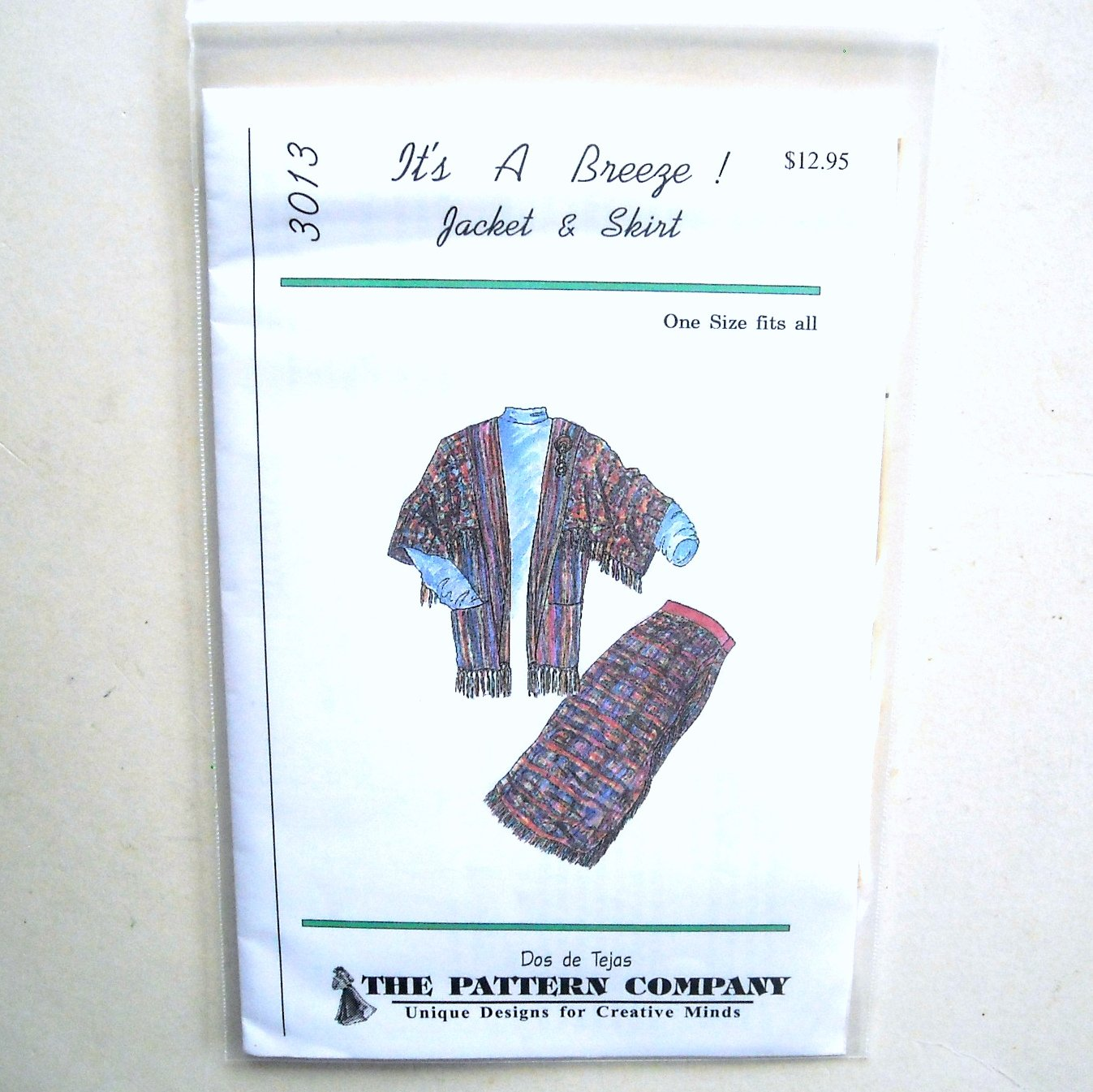 Misses Jacket Skirt Dos De Tejas Sewing Pattern 3013