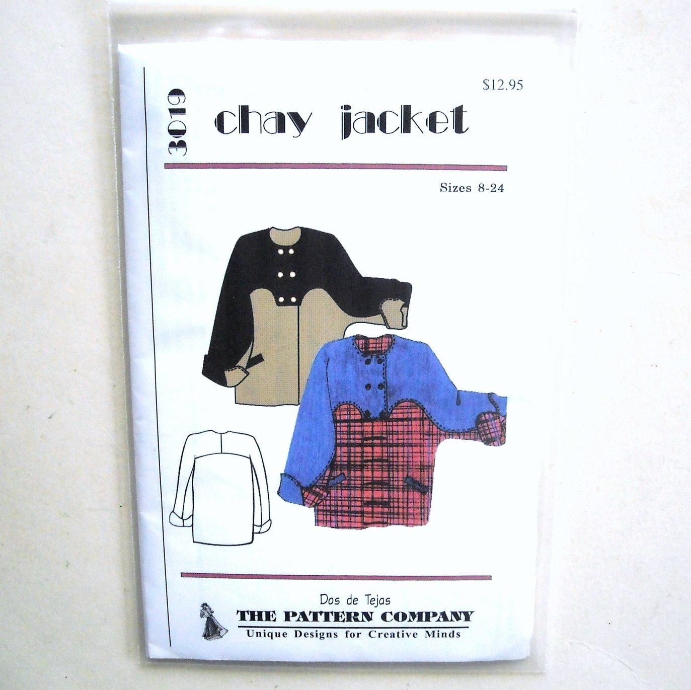 Chay Jacket Dos De Tejas Sewing Pattern 3019