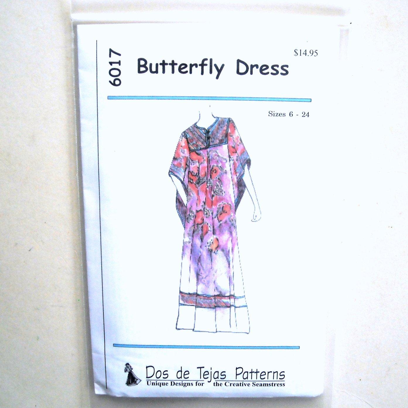 Butterfly Dress Dos De Tejas Sewing Pattern 6017