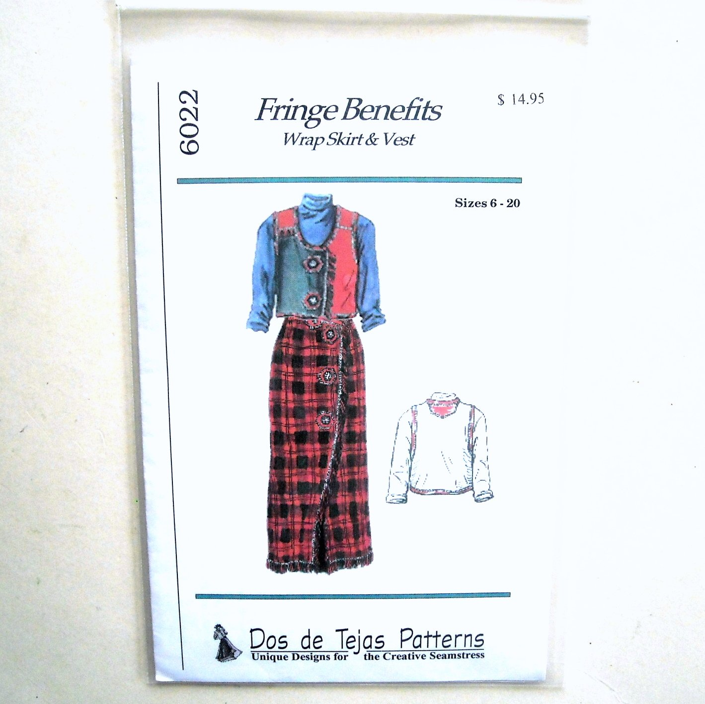 Misses Wrap Skirt Vest Dos De Tejas Sewing Pattern 6022