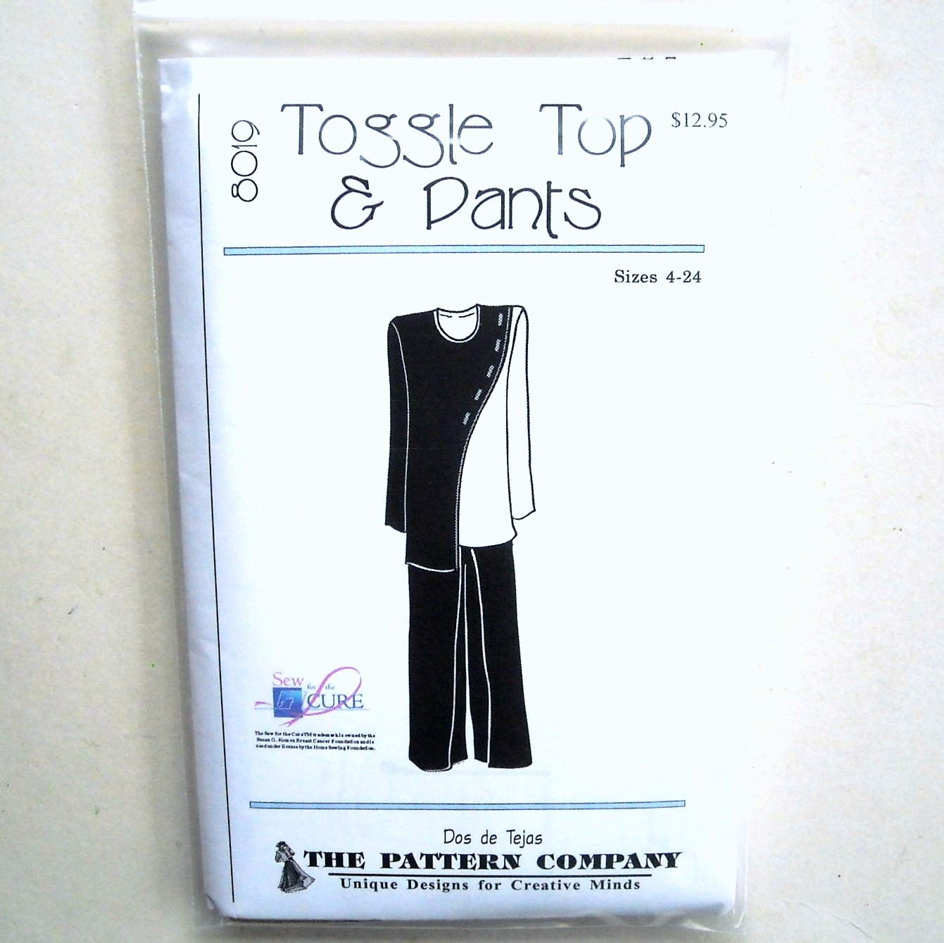 Misses Toggle Top Pants Dos De Tejas Sewing Pattern 8019