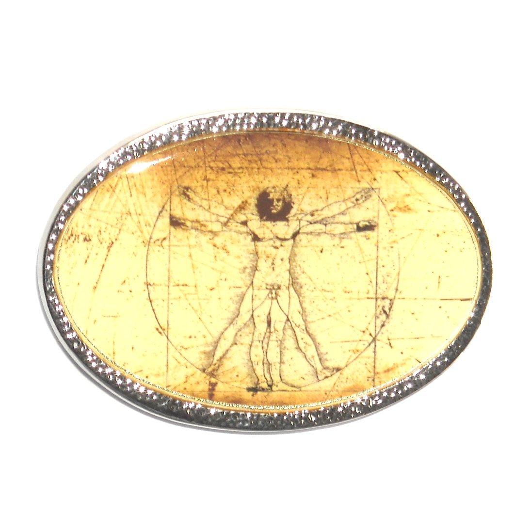 Leonardo Da Vinci Vitruvian Man Standard Belt Buckle