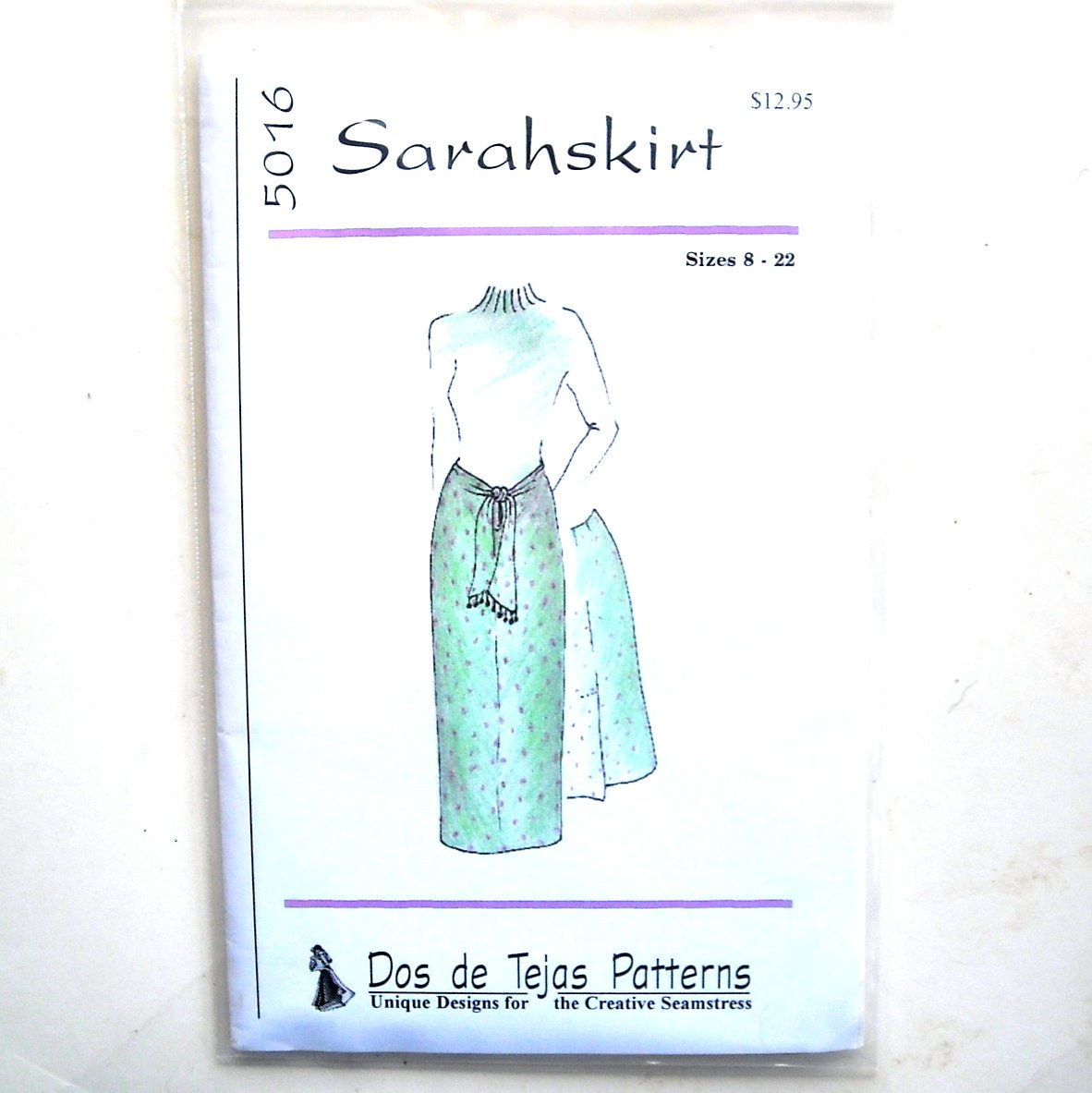 Miss Sarah Casual Skirt Dos De Tejas Sewing Pattern 5016