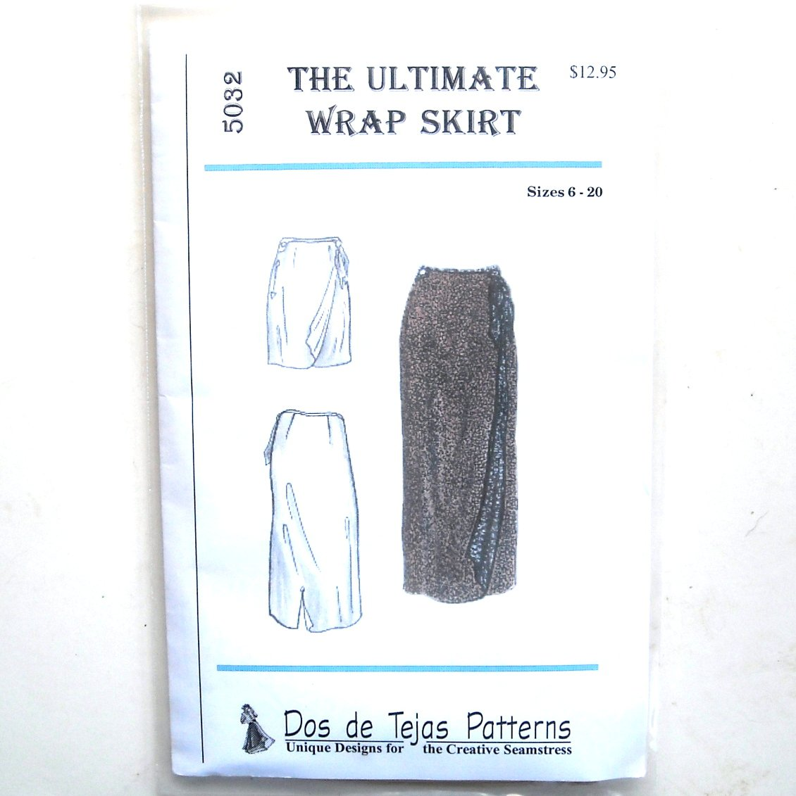 Misses Ultimate Wrap Skirt Dos De Tejas Sewing Pattern 5032