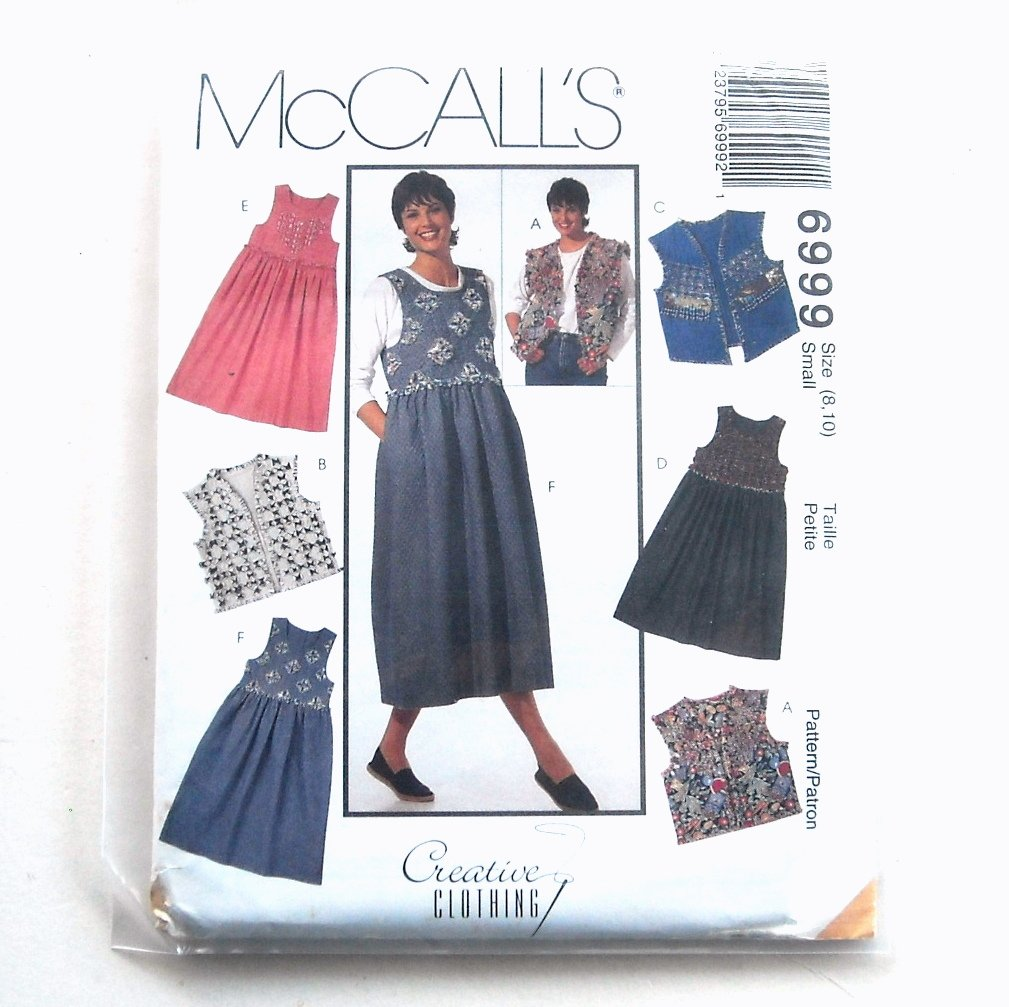 Misses Jumper & Vest McCall's Sewing Pattern 6999