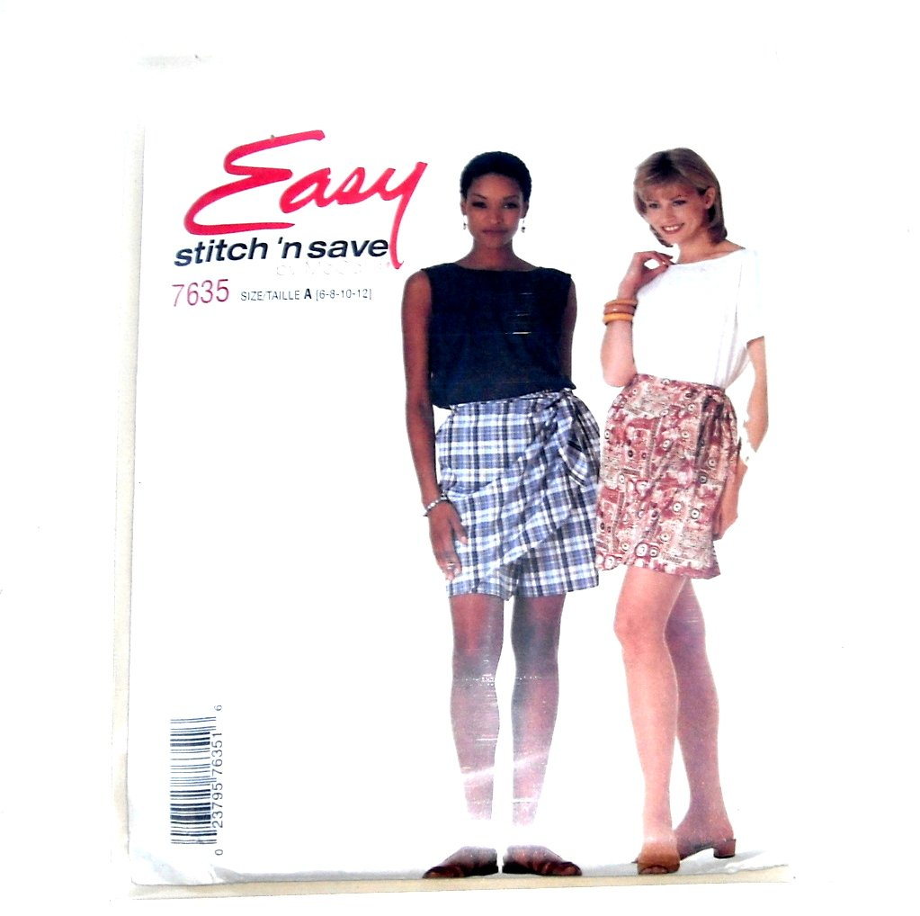 Misses Tops Shorts Fashion Vintage Stitch Save Sewing Pattern 7635