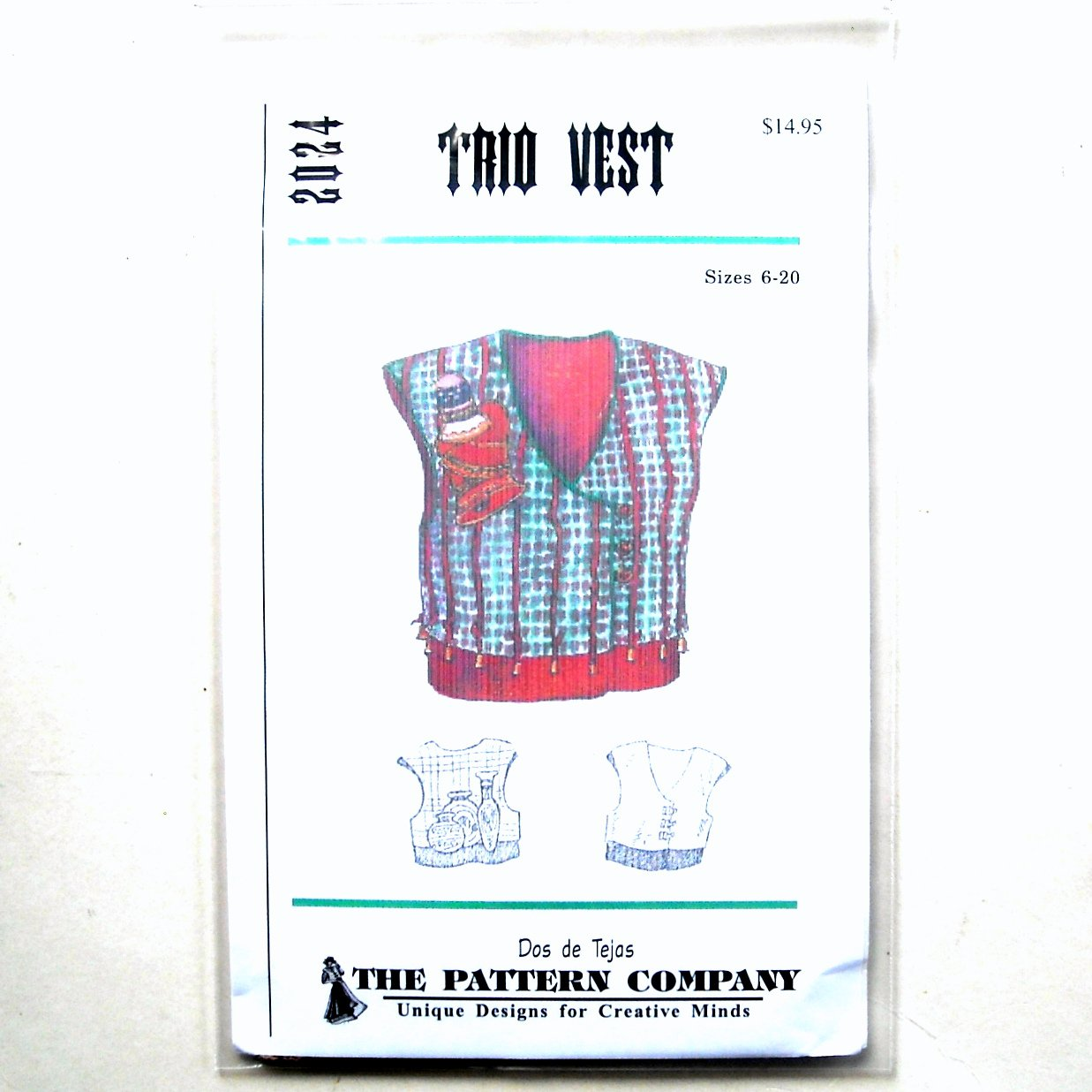 Trio Vest Dos De Tejas Sewing Pattern 2024