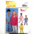Kids Toddlers Unisex Pajamas 3 - 8 Simplicity New Look Sewing Pattern 6131