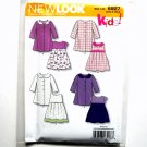 Kids Toddlers Dress Coat Simplicity New Look Sewing Pattern 6927