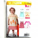 Kids Toddlers Dress Five Sizes Simplicity New Look Sewing Pattern 6956