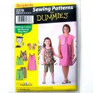 Childs Girls Dress Shorts Sportswear Size K5 7 - 14 Simplicity Sewing Pattern Dummies 2378