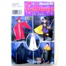 Girls Boys Kids Childs Capes Tabard Hats Costumes Size 3 - 8 Simplicity Sewing Pattern 5512