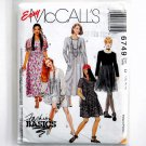 Misses Dress Two Lengths 1990s 12 14 16 McCalls Sewing Pattern 6749