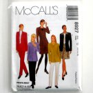 Misses Unlined Jacket Pants Skirts 12 14 16 McCalls Sewing Pattern 8927