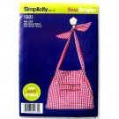 Bag Apron Style Sew Simple Simplicity Sewing Pattern 1981