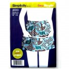 Misses Apron S M L Sew Simple Simplicity Sewing Pattern 2010