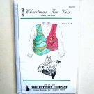 Christmas Fir Vest Dos De Tejas Sewing Pattern 2042