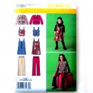 Girls Jumper Vest Jacket Pants 7 to 14 Simplicity Sewing Pattern 2484