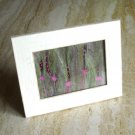 Purple Flowers Needle Felted Hand Embroidered Original Crafted Fiber Art