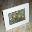 Dandelions Flowers Needle Felted Hand Embroidered Original Mixed Media Art