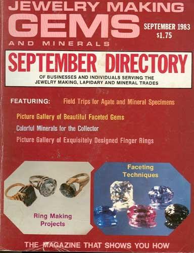 Jewelry Making Gems & Minerals Magazine September 1983