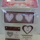 Handmade Valentine Dimensional Stickers - Love Accent Tags