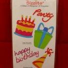 Sizzix Sizzlits Birthday #2 Set of 4 Dies