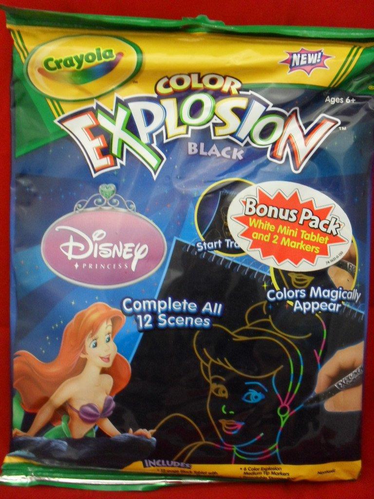 Crayola Color Explosion Black Disney Princess