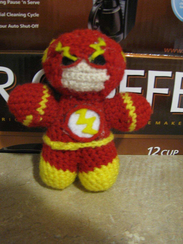 "SUPER HERO Crochet doll: Fastest Man ""the Flash"""