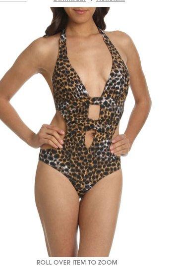 Leopard Print Monokini