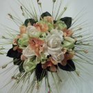 "Ready to ship. True Touch 12"" Round Bride's bouquet. They look & feel like real Flowers."
